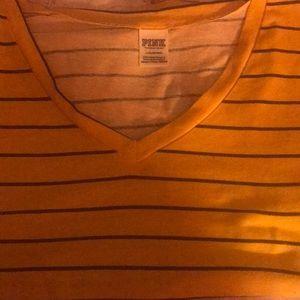 yellow striped PINK shirt